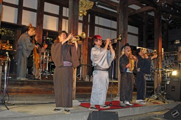 <p>The Karumera jazz band closed out the concert with some great original numbers</p>