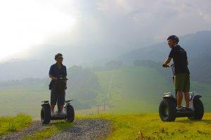 Riding Segways at Kiroro Resort