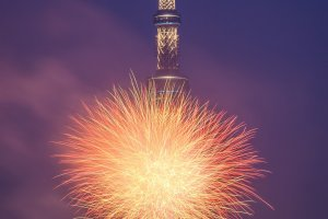 The Skytree almost seems to be exploding