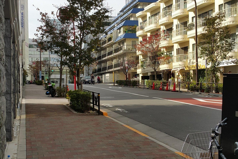 케이오 이노가시라 선 신센 역에서 나와 쇼토 미술관을 향해 가는 길거리의 예쁜 풍경