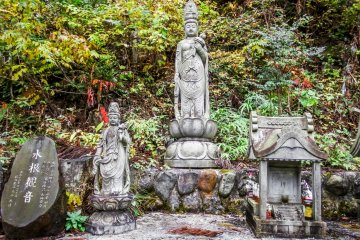 <p>The last of several religious structures on the final decent to Lake Okutama</p>