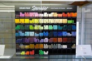 สีเทียนและสีพาสเทล ยี่ห้อซากุระ