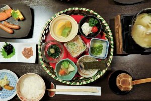 This Japanese breakfast was delicious, dinner was even more so.