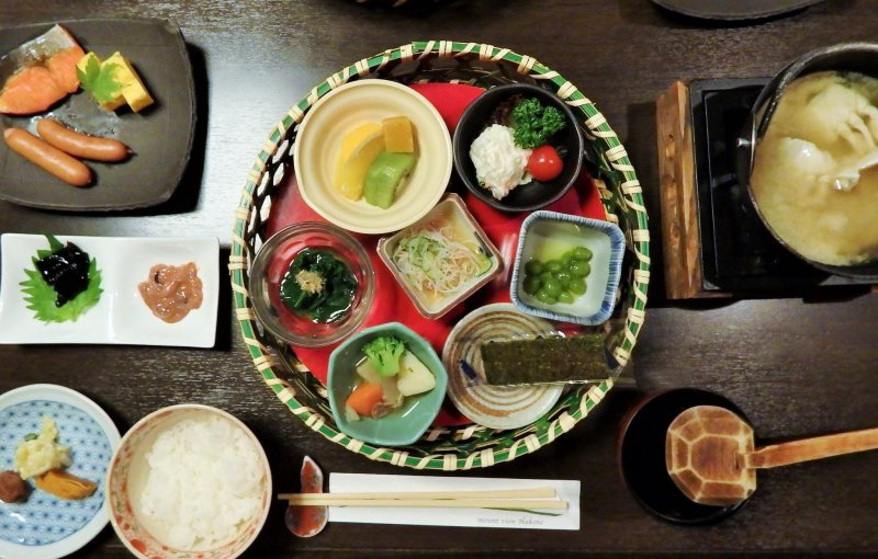 <p>This Japanese breakfast was delicious, dinner was even more so.</p>