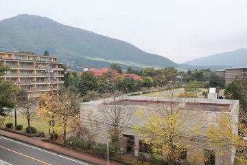 <p>The view of Sengokuhara from our room.</p>