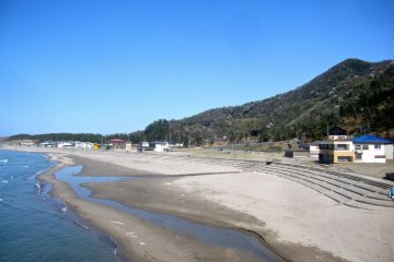 Kakuda Beach, the of the climb