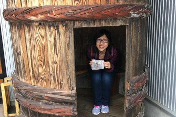 <p>This is where you can hide in a barrel and pose with your food.</p>