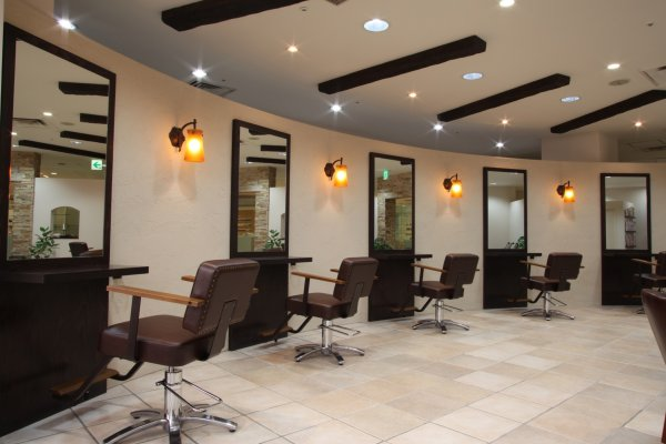 The salon offers a spacious and relaxing environment