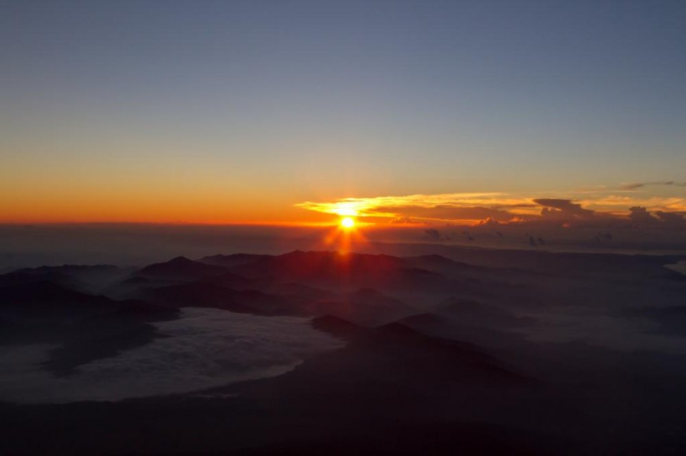 Sunrise On The Top Of Mount Fuji Yamanashi Japan Travel