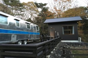 This is the trailer-cottage combo for 3-4 persons