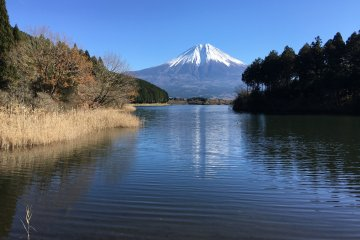 <p>Besides Shiraito Falls, Lake Tanuki is also very beautiful too and is famous as a spot to view Diamond Fuji that occurs only twice a year</p>
