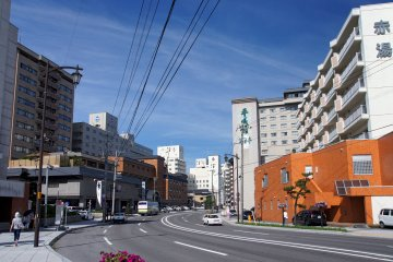 <p>Yunokawa Onsen is easily reached from downtown Hakodate by streetcar</p>