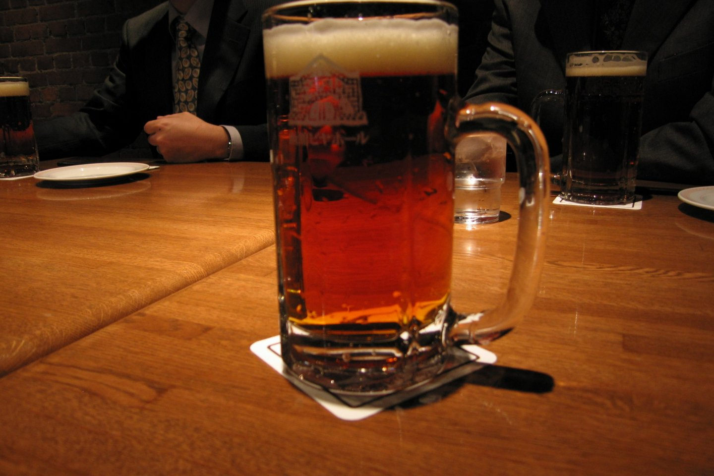 A glass of beer in the Hakodate Beer Hal
