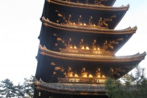 At over 50 meters, this pagoda is the second-tallest in Japan