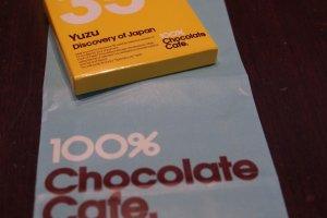 Yuzu chocolate square