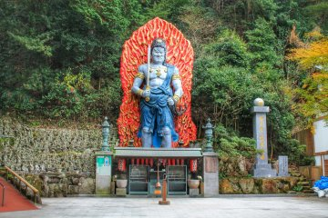 A big statue of Fudo Myo-o, an important deity and mantra king of Japanese Buddhism