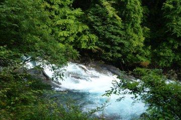 """The stream making a roaring sound like Fudo's mantra """"Kahhhn-mahhhn"""""""