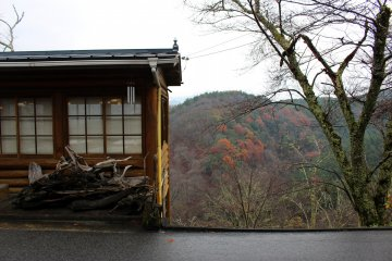 <p>The view from Ryokan Kato&#39;s common sitting area</p>