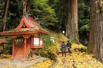 <p>The stairs to Mt. Goharetsu</p>