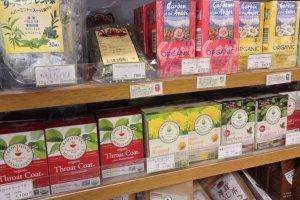 Bonraspail's wide tea selection.
