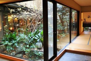 The ryokan's inner garden