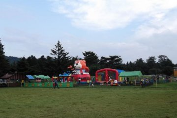 <p>When I was there, the western lawn had this kids&#39; funfair</p>