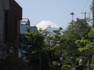 Il surplombe ici la jolie ville de Numazu