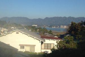 La vue sur la mer depuis notre chambre
