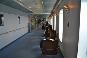 One of the many seating areas for passengers
