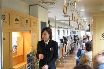 Inside the Ao-matsu train on the mid-morning service