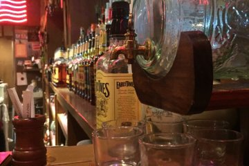 <p>Lots of Western decorations make the bar feel authentic.</p>