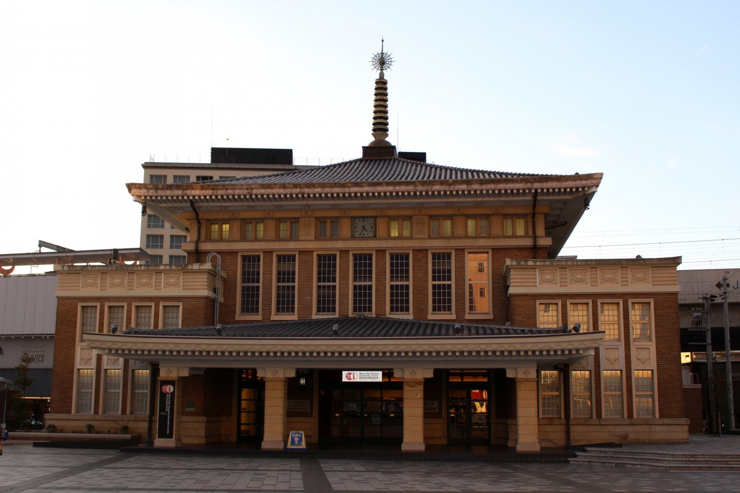 The historic former JR Nara Station building is now home to the Nara City Tourist Information Center