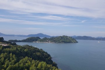 <p>View to the left of some of the islands in the Seto Inland Sea.</p>