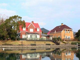 บ้านสวยๆ มีพื้นที่ที่อยู่อาศัยใน Huis Ten Bosch และที่นี่ก็มีผู้คนอาศัยอยู่จริง