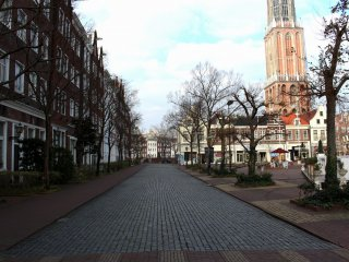 The street view in front of Hotel Amsterdam
