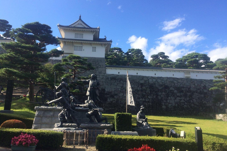The entrance of Nihonmatsu Castle, also known as Kumiga-jo.