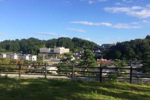 Nihonmatsu City, just outside of Nihonmatsu Castle grounds.