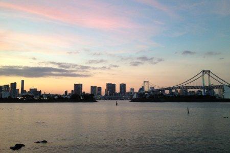 Cotton Candy Skies over Odaiba