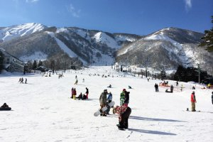 The view from outside Esclar Plaza in Hakuba.