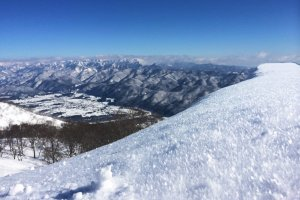 A view of the Japanese Alps.