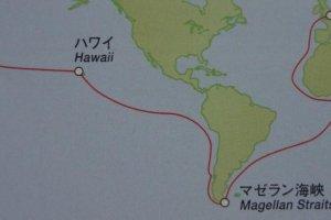 アダムスらが乗船したリーフデ号の航路