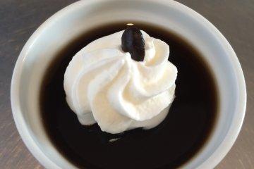 <p>Coffee jelly for dessert.</p>
