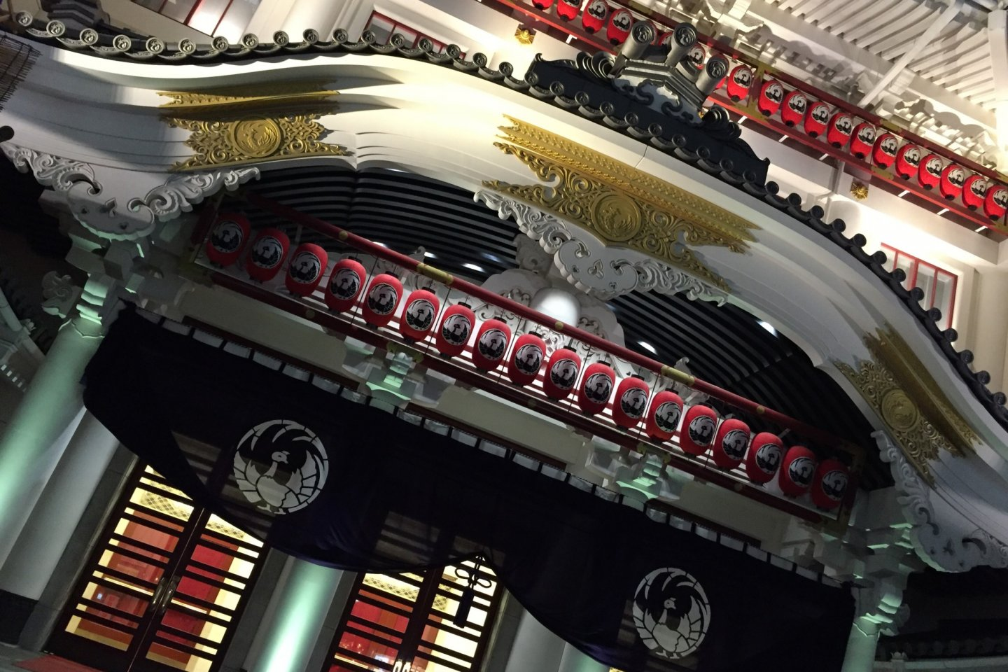 Close up of Japan's most famous theatre in Ginza.