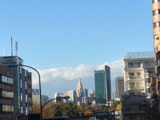 Terlihat Shinjuku dari kejauhan
