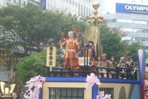 Toyotomi Hideyoshi tours Nagoya City Central