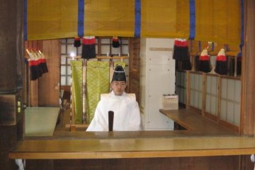 <p>Shinto priest</p>