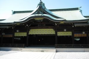 Meiji Shrine's main hall