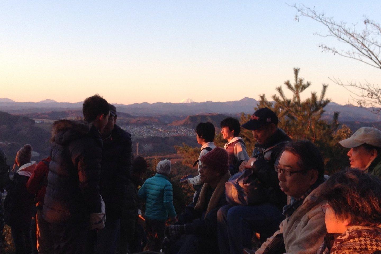 A clear view of Mt. Fuji