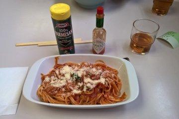 Another very popular item Neapolitan spaghetti