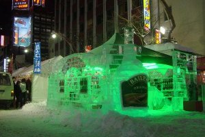 An ice bar in Susukino